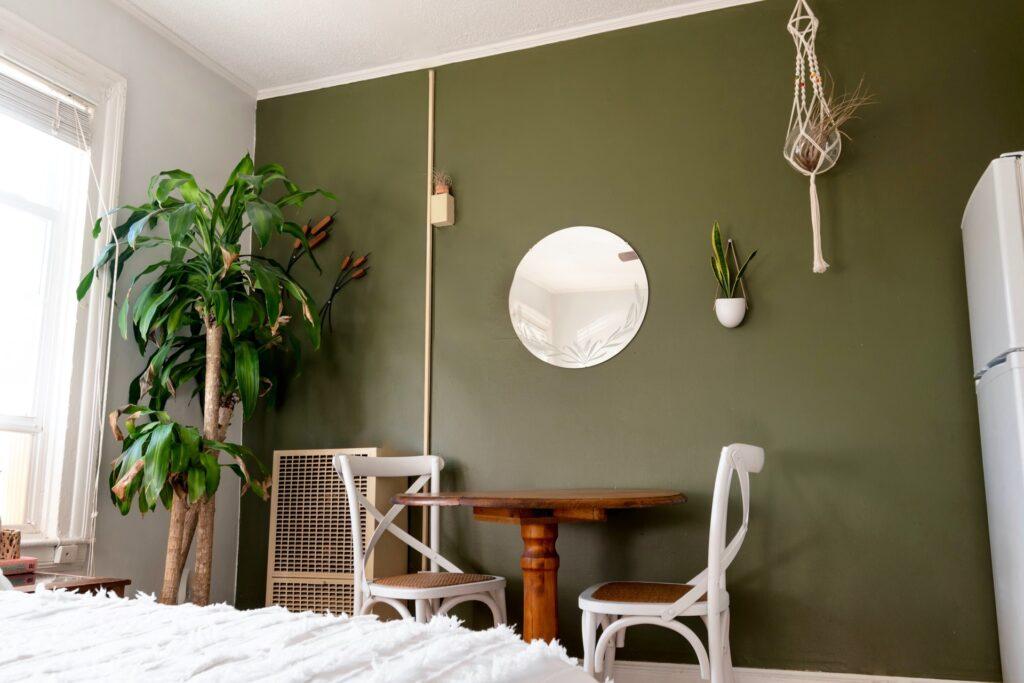 Foam green interior design